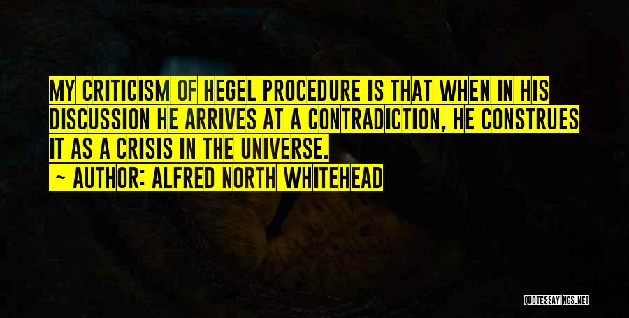 Friedrich Hegel Quotes By Alfred North Whitehead