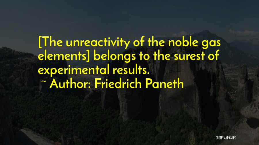 Friedrich Paneth Quotes 1835896