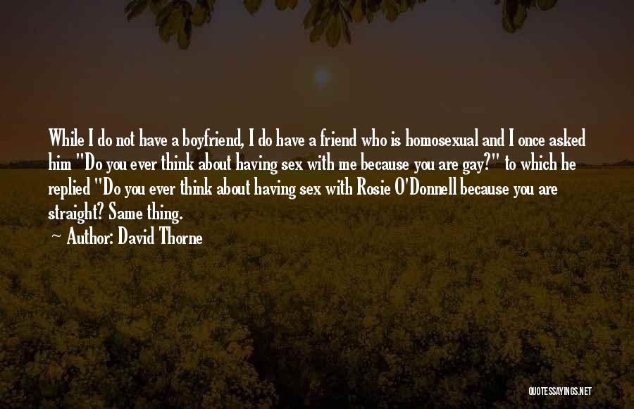 Friend And Boyfriend Quotes By David Thorne