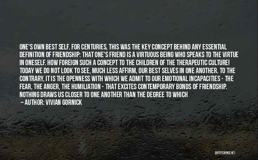 Friend Definition Quotes By Vivian Gornick