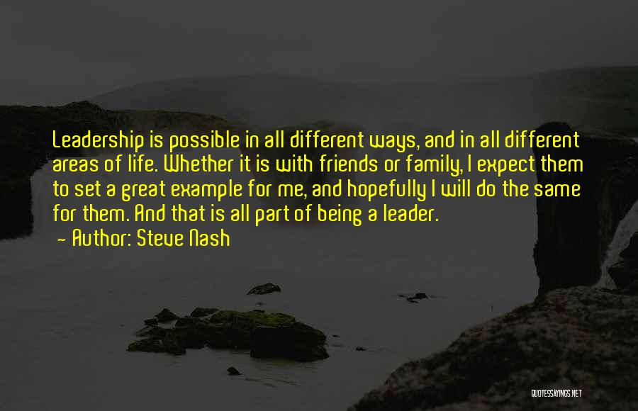 Friends And Family Being There Quotes By Steve Nash