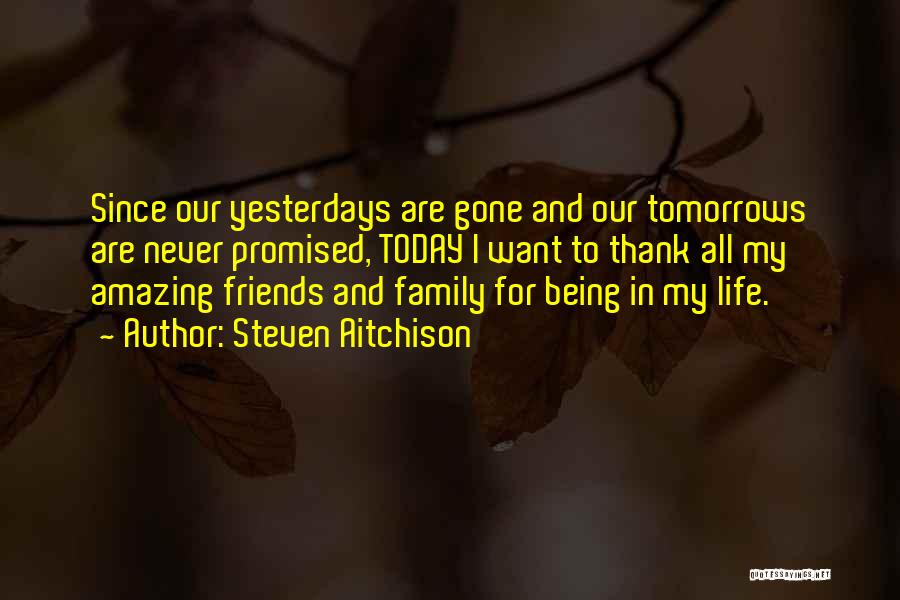 Friends And Family Being There Quotes By Steven Aitchison
