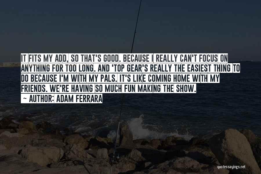 Friends And Having Fun Quotes By Adam Ferrara