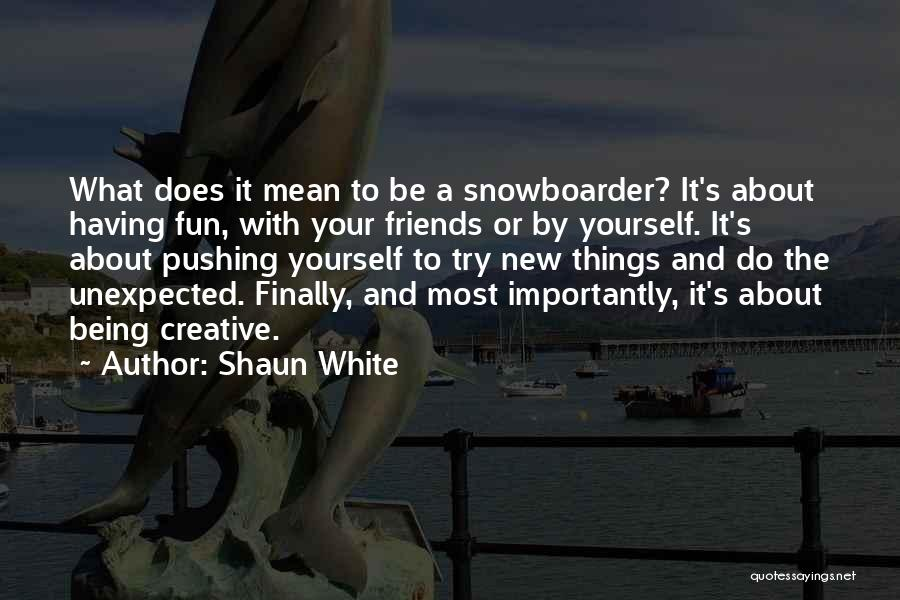 Friends And Having Fun Quotes By Shaun White