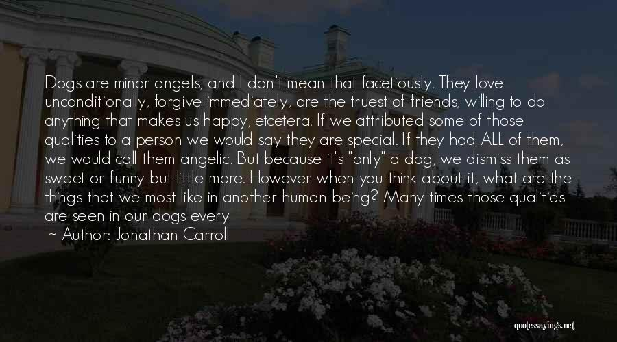 Friends Being Angels Quotes By Jonathan Carroll