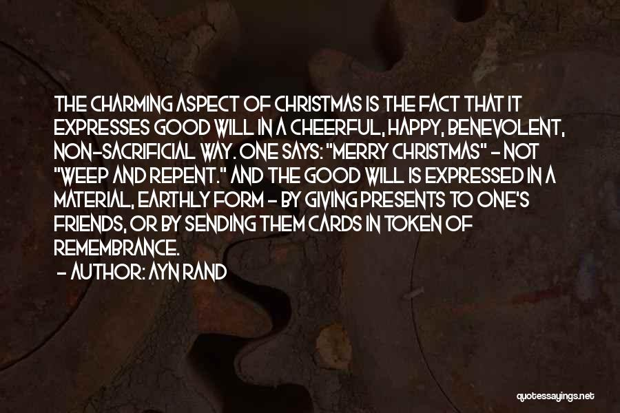 Friends Merry Christmas Quotes By Ayn Rand