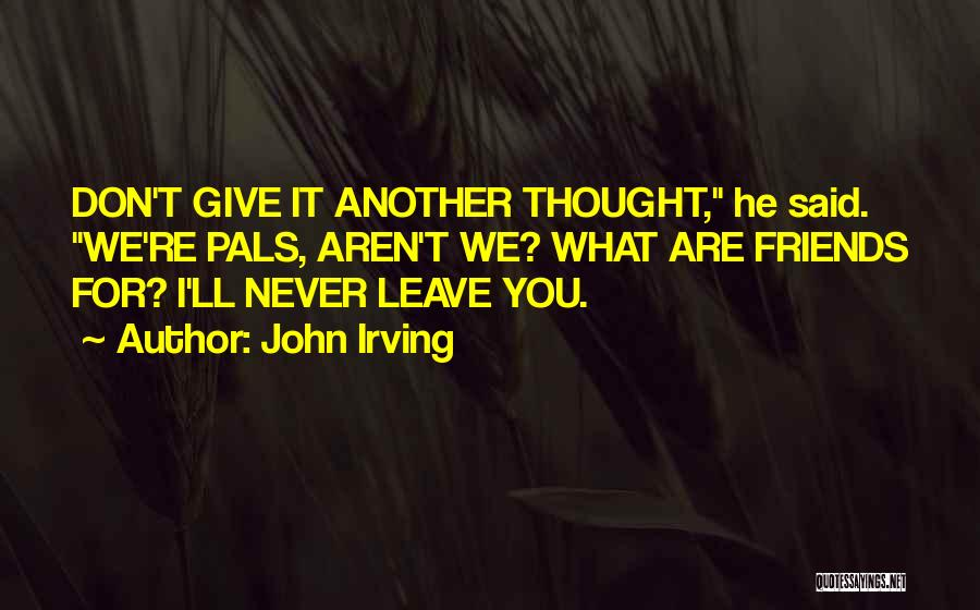 Friends Never Give Up Quotes By John Irving