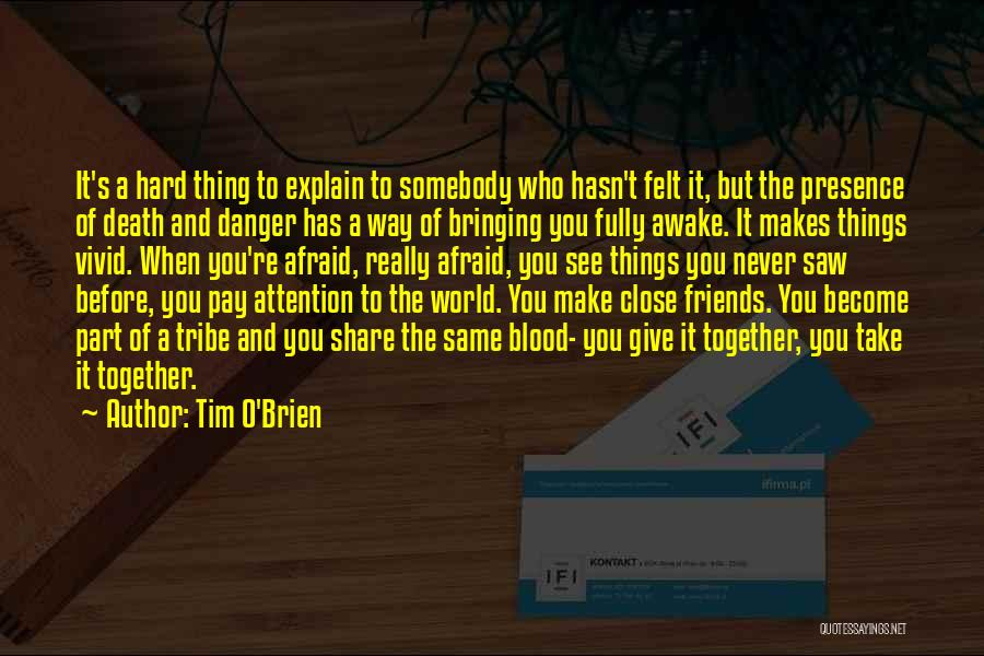 Friends Never Give Up Quotes By Tim O'Brien