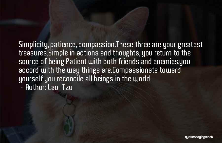 Friends Treasures Quotes By Lao-Tzu