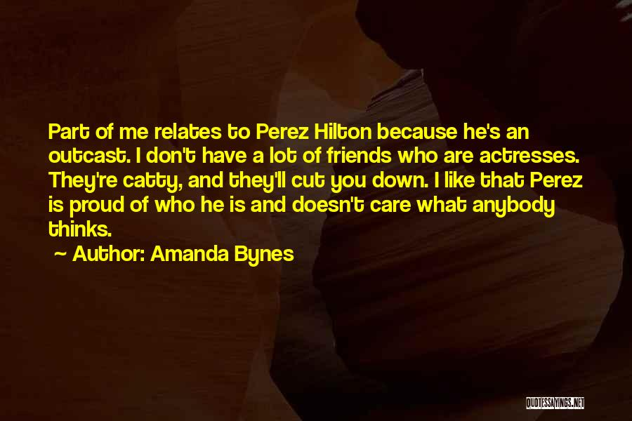Friends Who Doesn't Care Quotes By Amanda Bynes