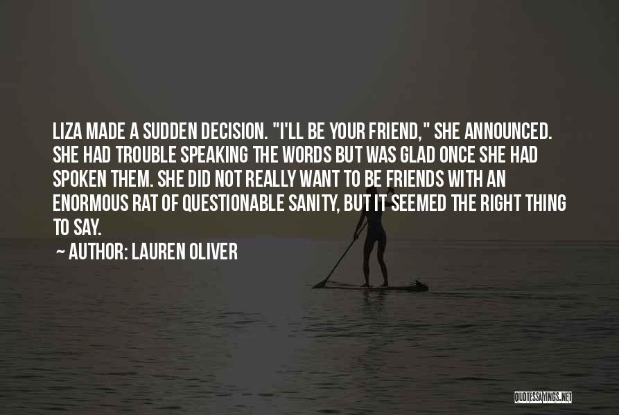 Friends With Quotes By Lauren Oliver