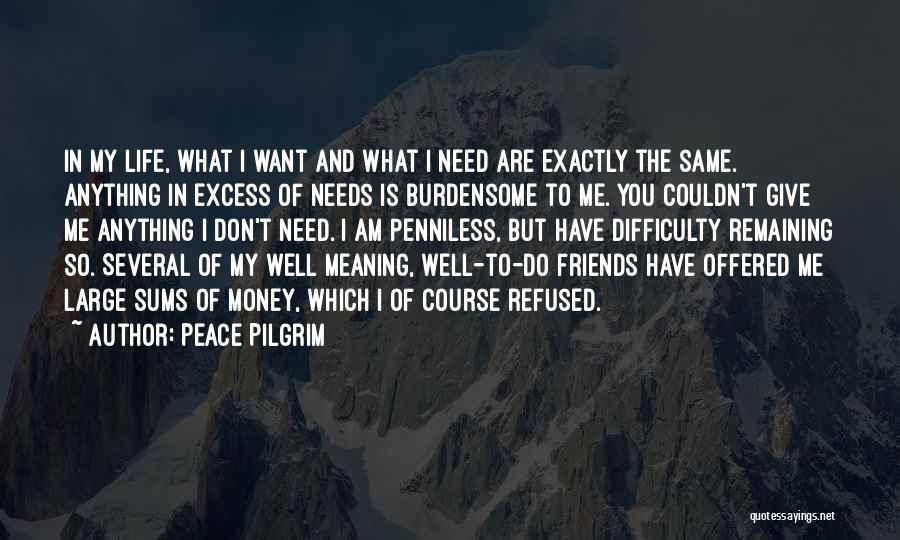 Friends You Don't Need Quotes By Peace Pilgrim
