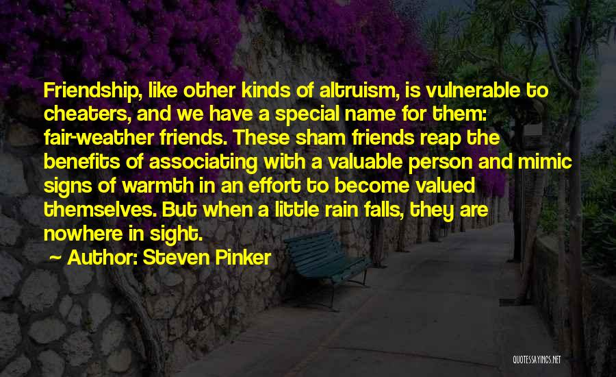 Friendship And Relationship Quotes By Steven Pinker