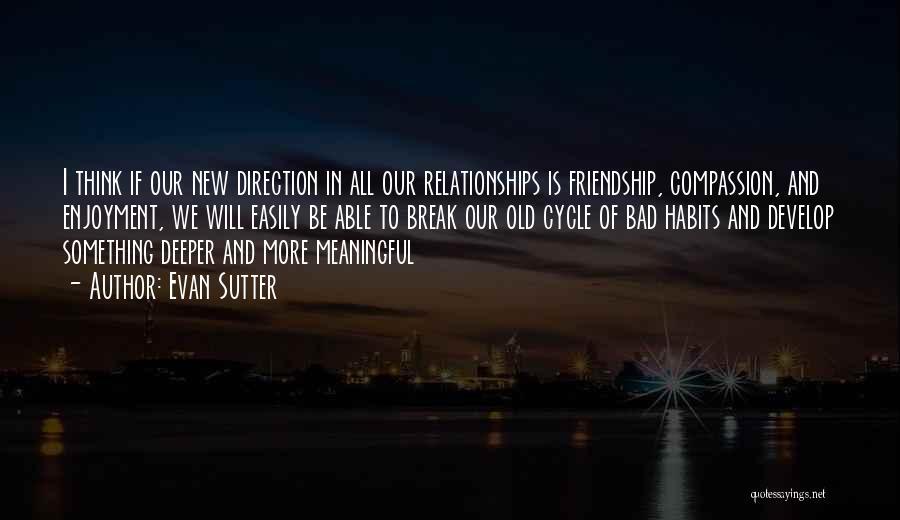 Friendship Break Quotes By Evan Sutter