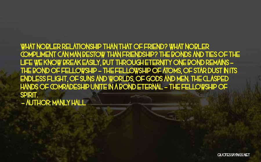 Friendship Break Quotes By Manly Hall