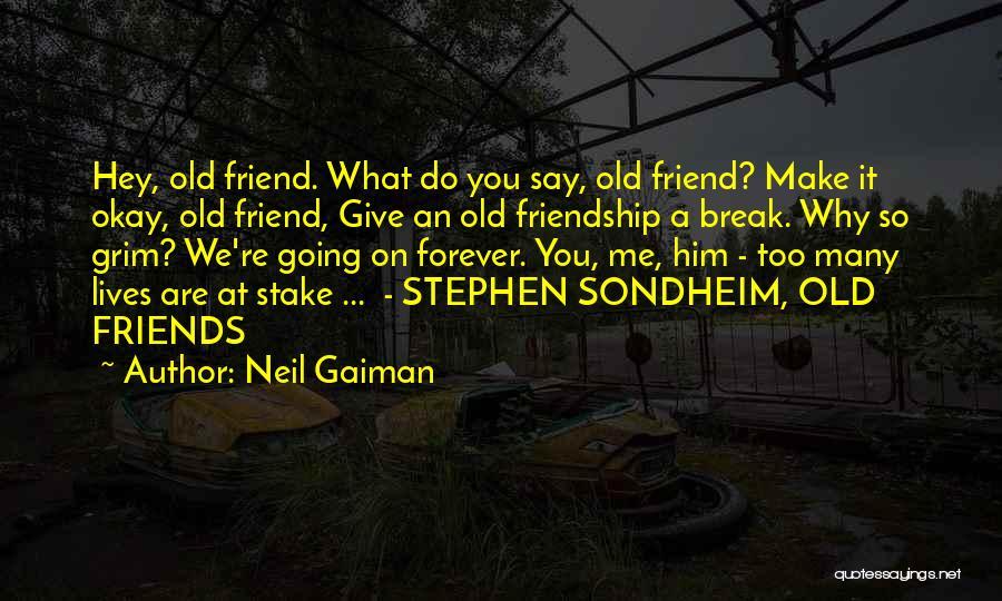Friendship Break Quotes By Neil Gaiman