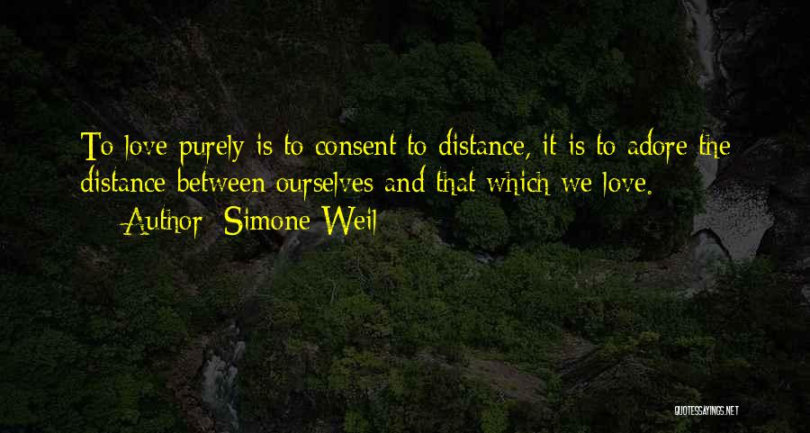 Friendship Distance Quotes By Simone Weil