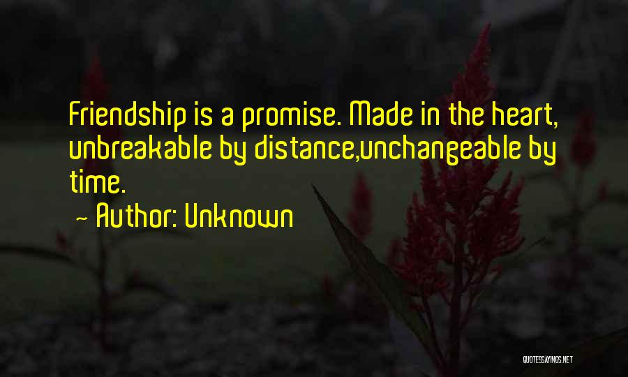 Friendship Distance Quotes By Unknown