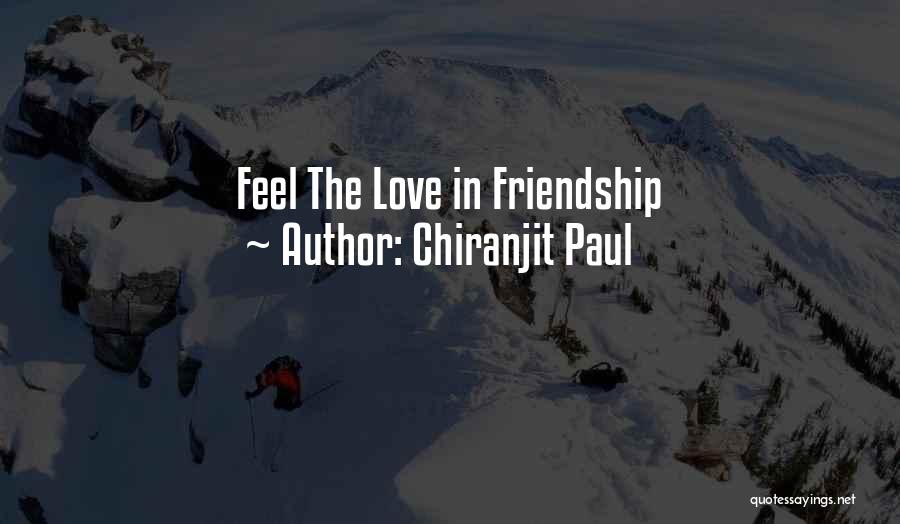 Friendship Lovers Quotes By Chiranjit Paul