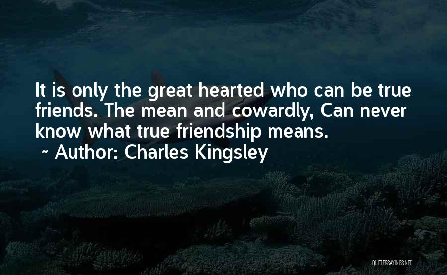 Friendship Means Nothing Quotes By Charles Kingsley