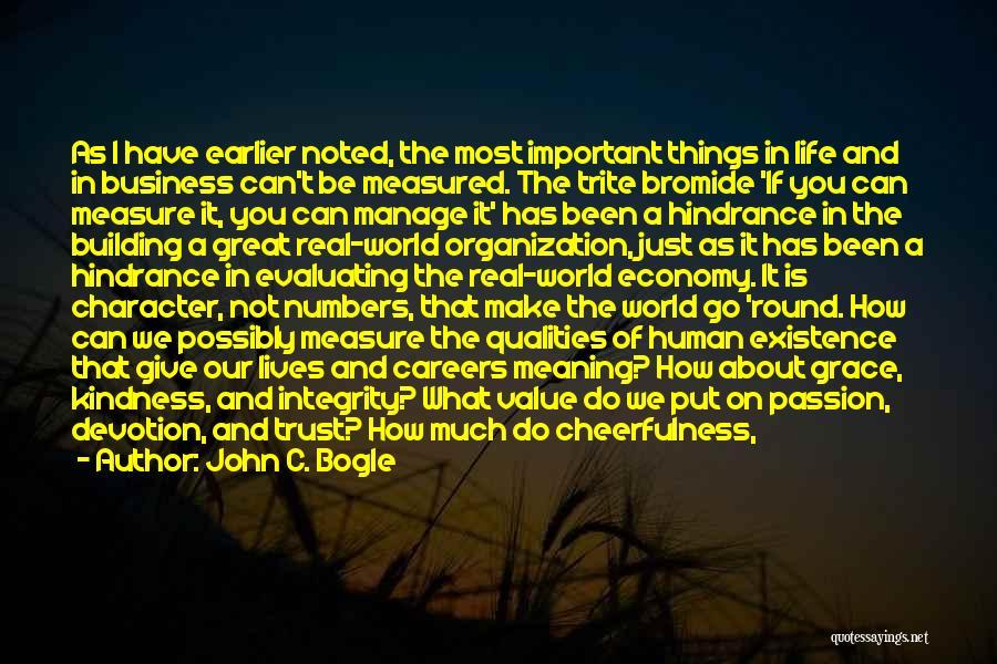 Friendship Measure Quotes By John C. Bogle