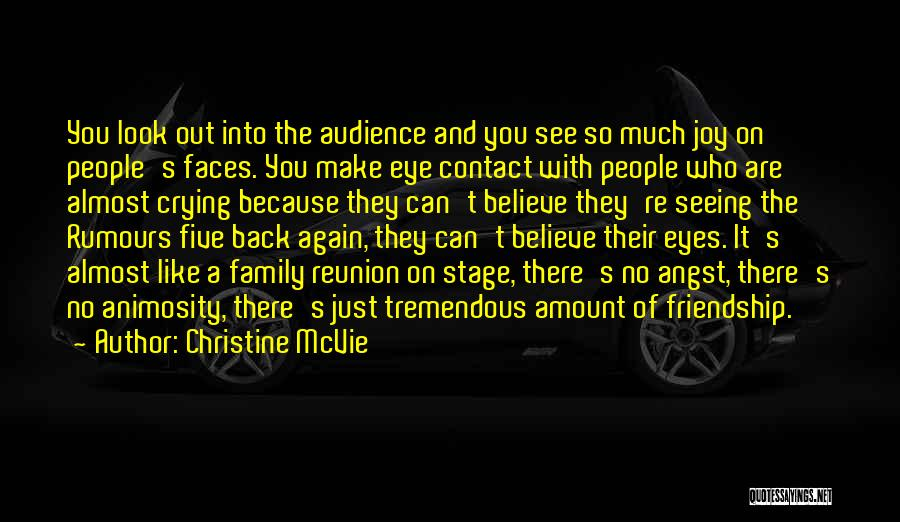 Friendship Reunion Quotes By Christine McVie