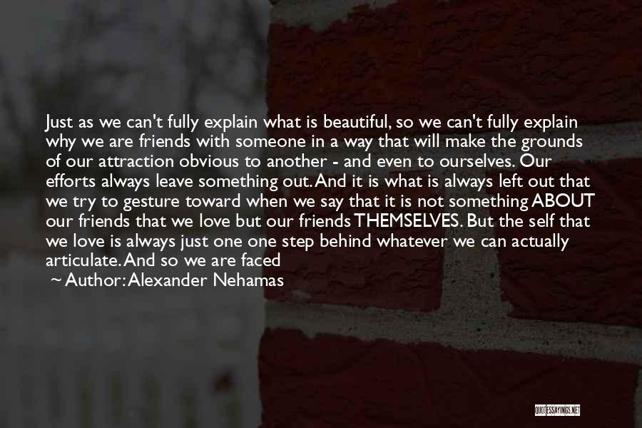 Friendship Saying Sorry Quotes By Alexander Nehamas