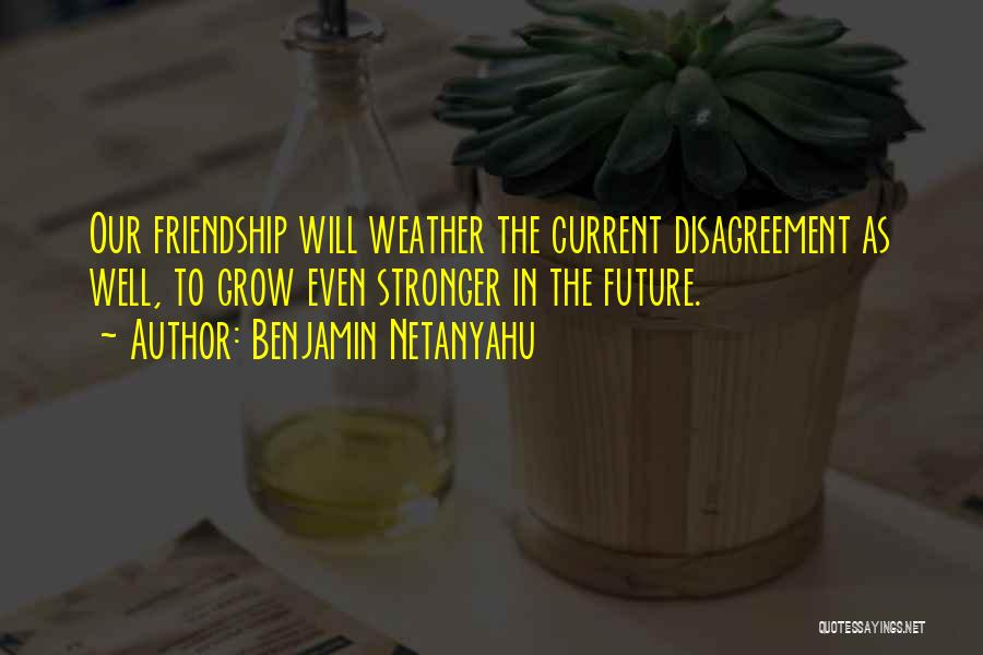 Friendship Stronger Quotes By Benjamin Netanyahu