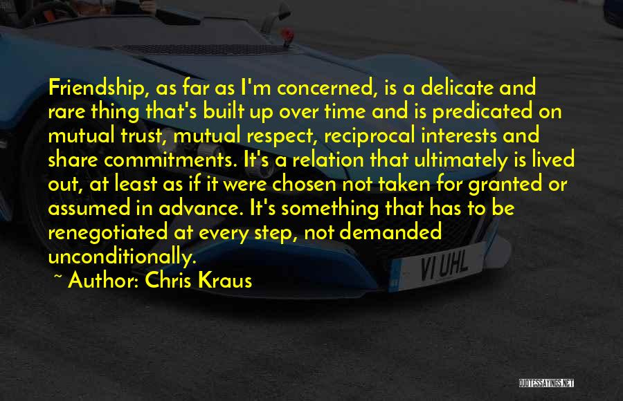Friendship Taken For Granted Quotes By Chris Kraus