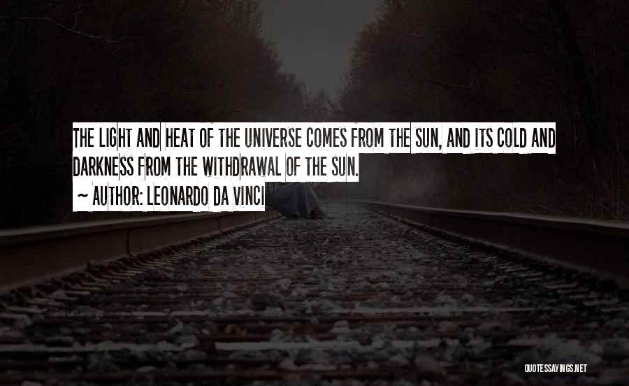 From Darkness Comes Light Quotes By Leonardo Da Vinci