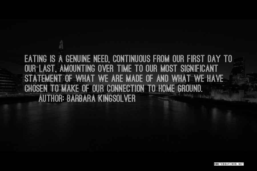 From First To Last Quotes By Barbara Kingsolver