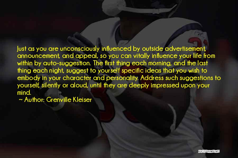 From First To Last Quotes By Grenville Kleiser