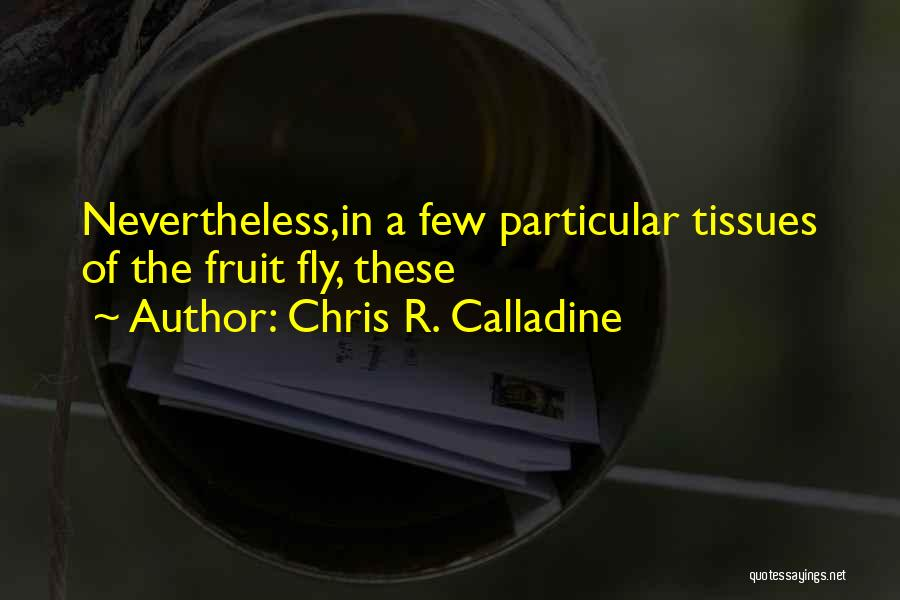 Fruit Fly Quotes By Chris R. Calladine