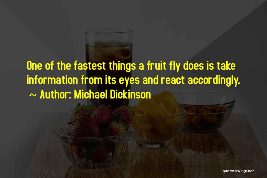 Fruit Fly Quotes By Michael Dickinson
