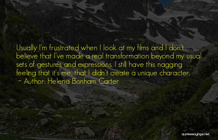Frustrated Quotes By Helena Bonham Carter