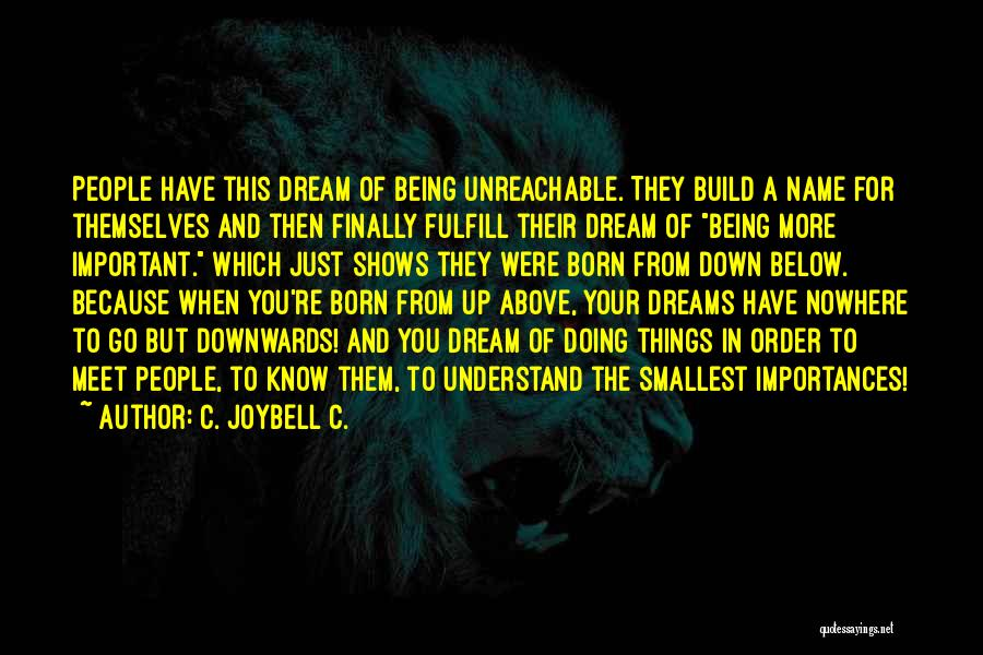 Fulfill Your Dreams Quotes By C. JoyBell C.