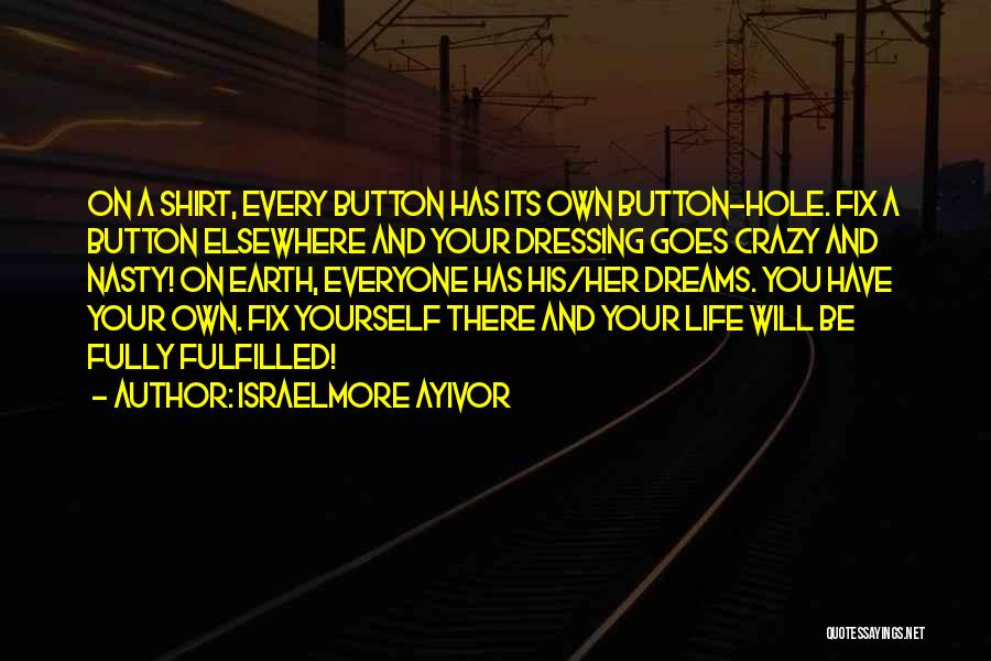 Fulfill Your Dreams Quotes By Israelmore Ayivor