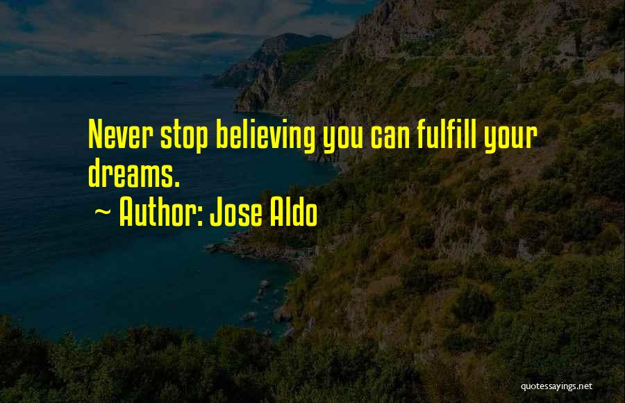 Fulfill Your Dreams Quotes By Jose Aldo