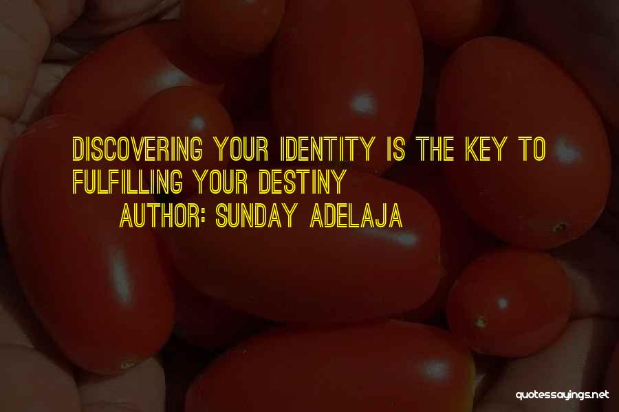 Fulfilling Your Destiny Quotes By Sunday Adelaja