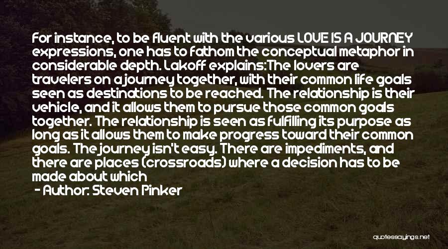 Fulfilling Your Goals Quotes By Steven Pinker