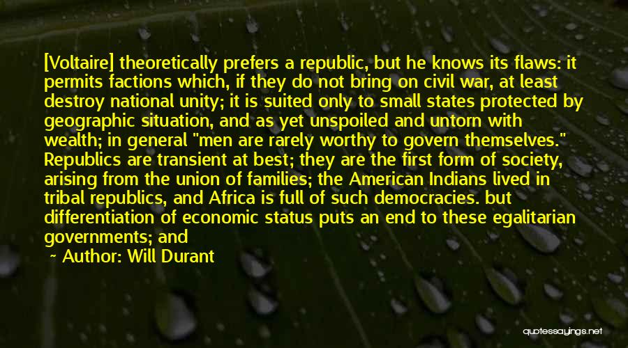 Full Of Themselves Quotes By Will Durant