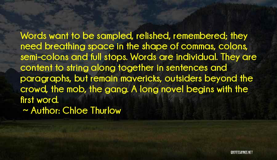 Full Stops Quotes By Chloe Thurlow