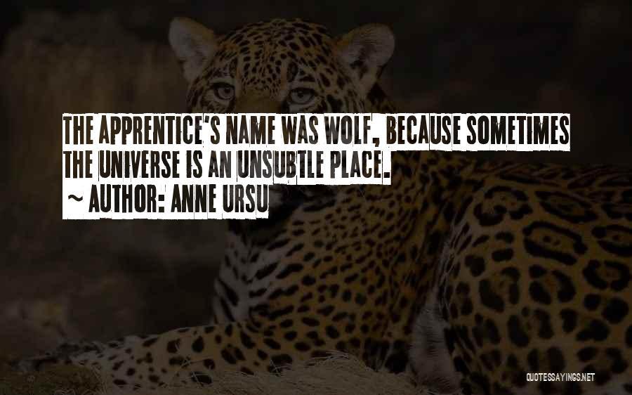 Funny Apprentice Quotes By Anne Ursu