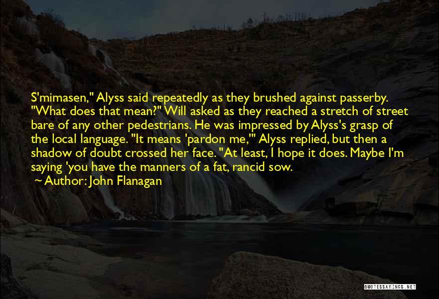 Funny Apprentice Quotes By John Flanagan