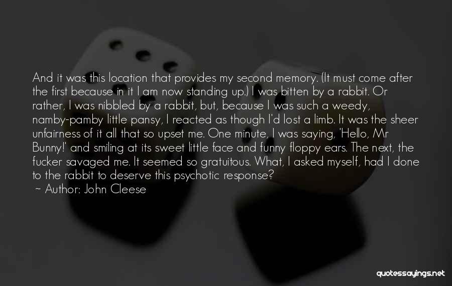 Funny Bunny Rabbit Quotes By John Cleese