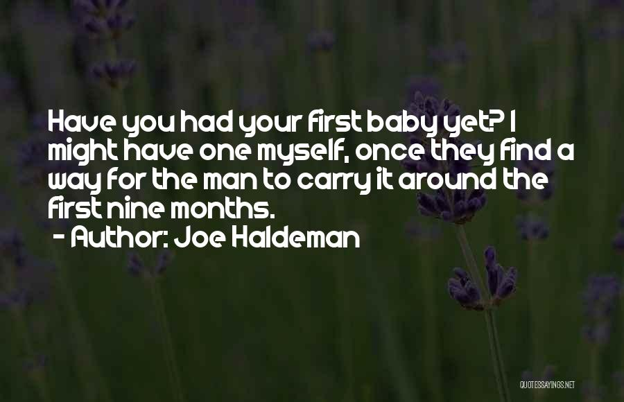 Funny Carry On Quotes By Joe Haldeman