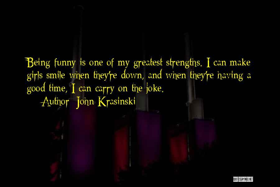 Funny Carry On Quotes By John Krasinski