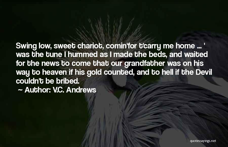 Funny Carry On Quotes By V.C. Andrews