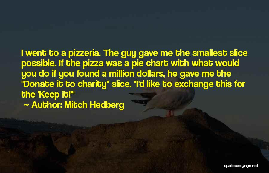 Funny Charity Quotes By Mitch Hedberg