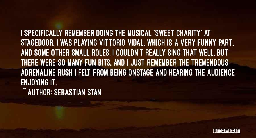 Funny Charity Quotes By Sebastian Stan